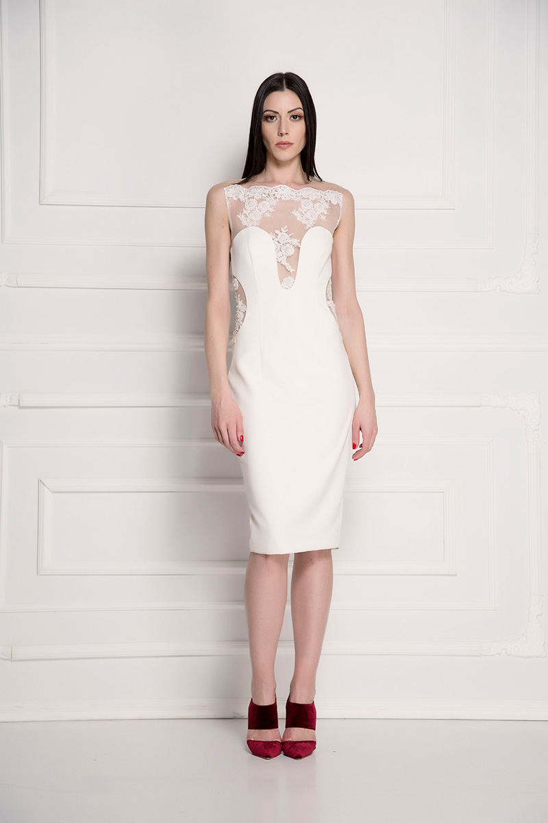 Koktel haljina sa ledjima od čipke