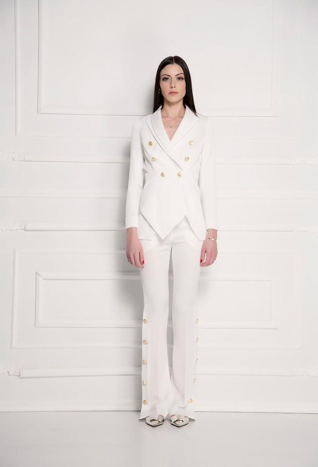 Pantalone jednobojne bele