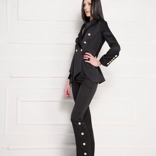 Pantalone jednobojne crne