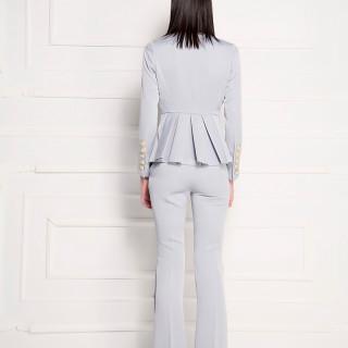 Pantalone jednobojne sive