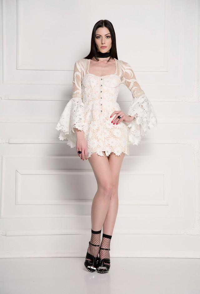 Korset haljina sa volan rukavima