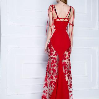 Svečana haljina od kombinovane čipke