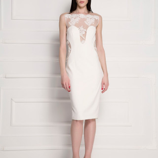 Back lace cocktail dress
