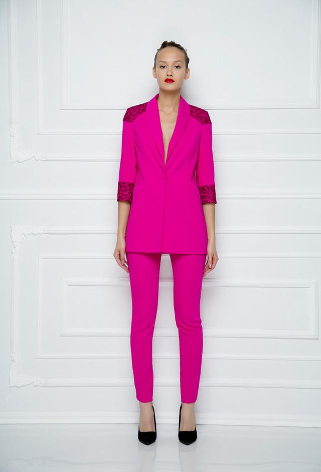 Multicolor Lace Blazer