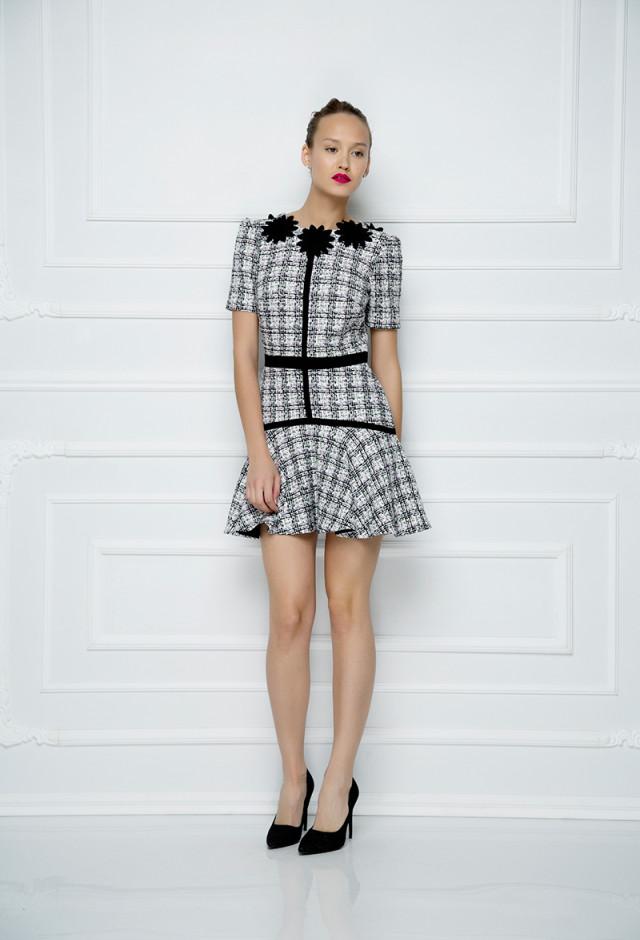 Mini haljina od vunenog tvida