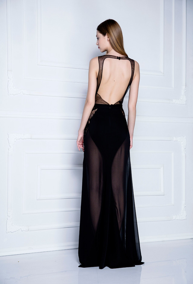 Svečana haljina od kristala i svilenkastog muslina