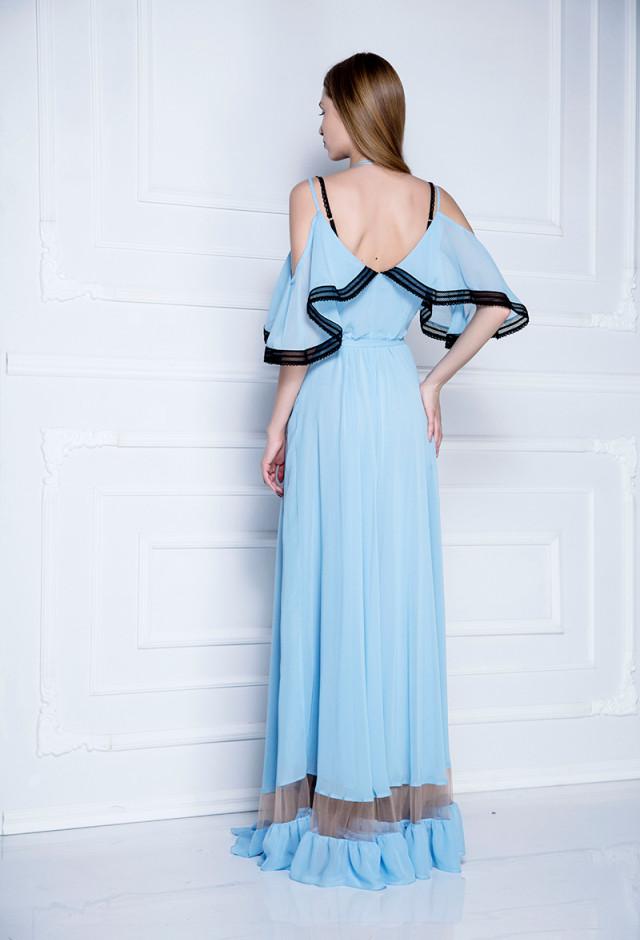Duga kaftan-haljina na vezivanje