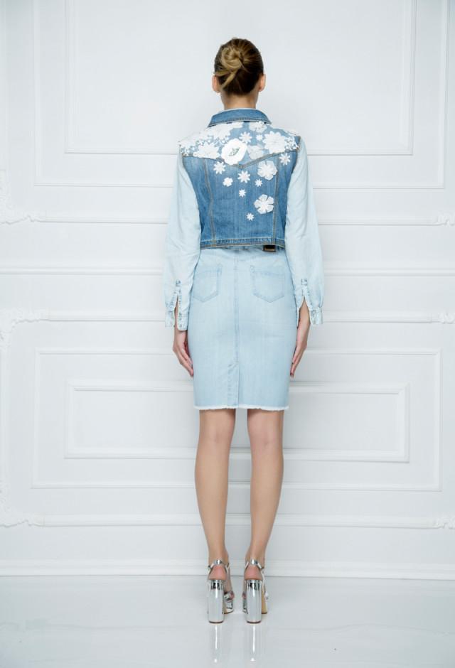 Džins suknja visokog struka