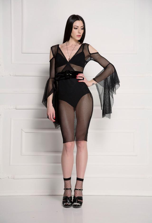 Transparentna koktel haljina