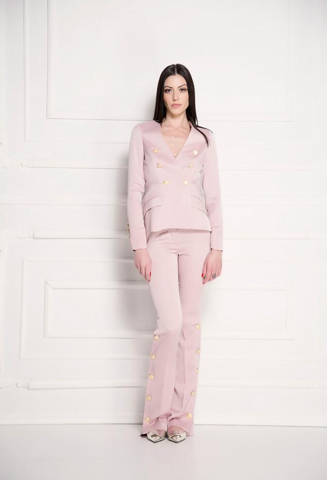 Pantalone jednobojne roze