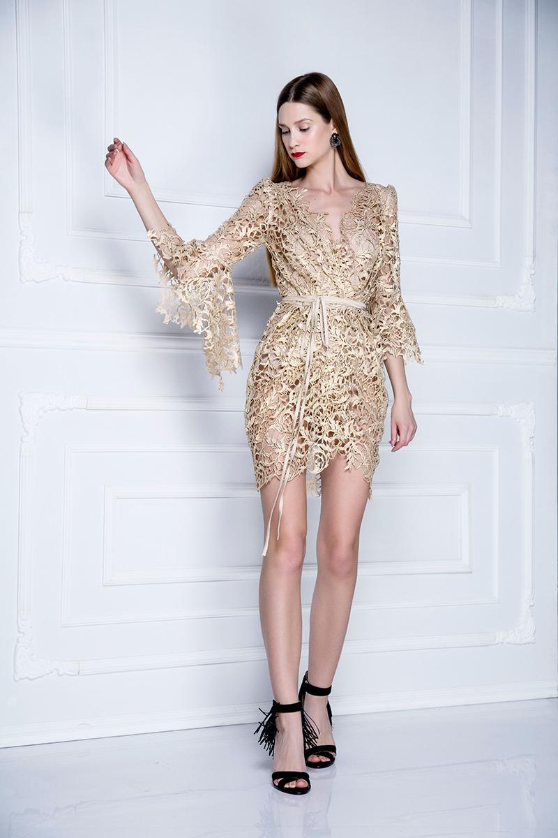 slike haljina od cipke Ogrtač haljina od brokatne pamučne čipke BT_11AK_C22 | Biljana  slike haljina od cipke